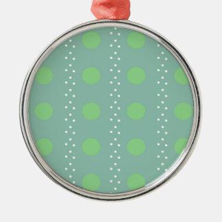 Polka dots metal ornament