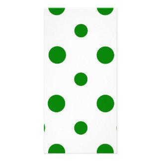 Polka Dots Mixed II - Green on White Photo Card Template