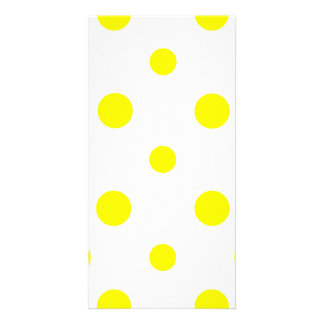 Polka Dots Mixed II - Yellow on White Picture Card