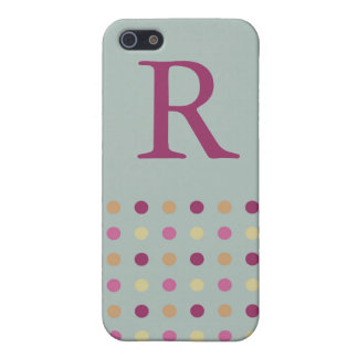 Polka Dots Monogram Speck Case Case For iPhone 5