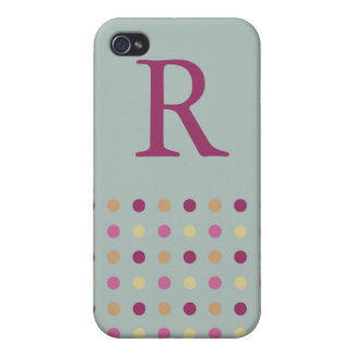 Polka Dots Monogram Speck Case iPhone 4 Cases
