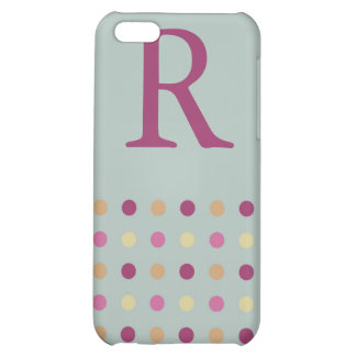 Polka Dots Monogram Speck Case iPhone 5C Cover