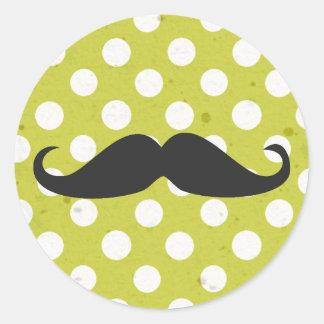Polka Dots & Mustache Stickers