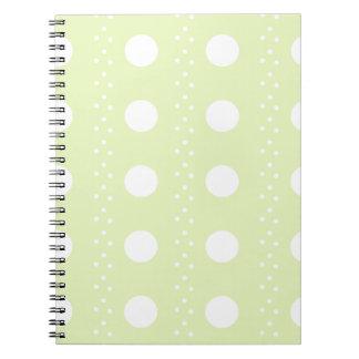 polka dots notebook