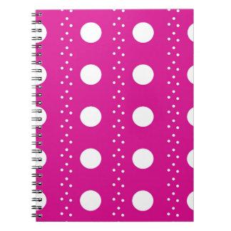 polka dots notebooks