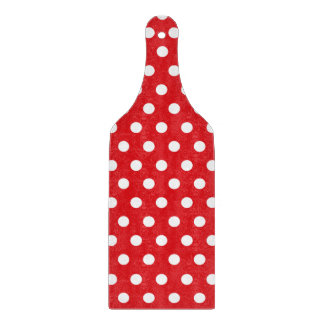 Polka Dots on Apple Red Cutting Boards