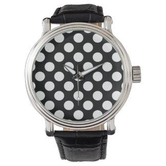 Polka Dots on Black Watch