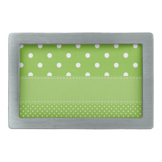 polka-dots on green belt buckles