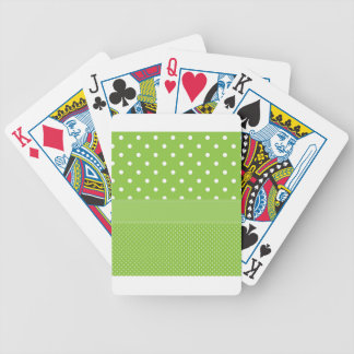 polka-dots on green bicycle playing cards