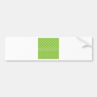 polka-dots on green bumper sticker