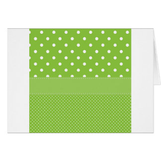 polka-dots on green card
