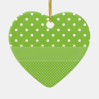 polka-dots on green ceramic ornament