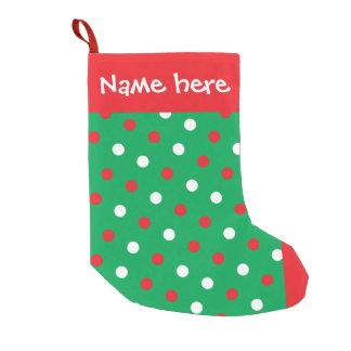 Polka Dots on Green Christmas Stocking