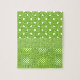 polka-dots on green jigsaw puzzle