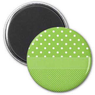polka-dots on green magnet