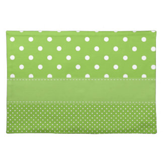 polka-dots on green placemat
