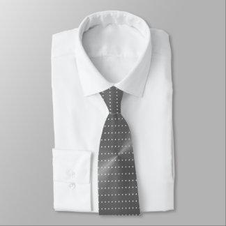 Polka Dots on Grey Metallic Tie