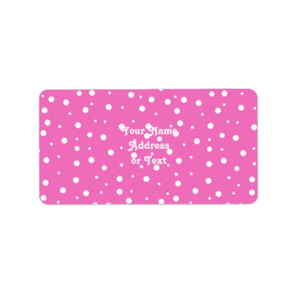 Polka Dots on Pink Background