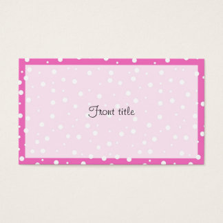 Polka Dots on Pink Background Business Card