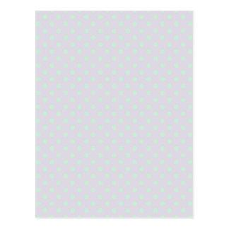 Polka Dots - Pale Green on Pale Violet Postcard