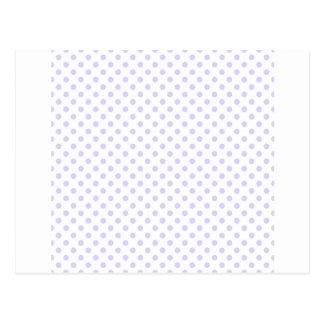 Polka Dots - Pale Lavender on White Post Card