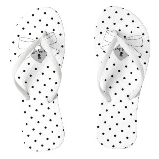 Polka Dots Party Wedding Bows Party Flip Flops