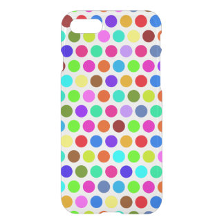 Polka Dots Pattern colored I + your backgr. & idea iPhone 7 Case