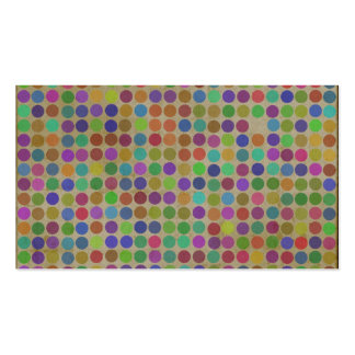 Polka Dots Pattern Fashion Vintage Retro Colors Business Card Template