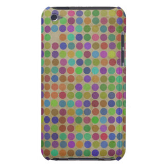 Polka Dots Pattern Fashion Vintage Retro Colors Barely There iPod Case
