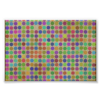 Polka Dots Pattern Fashion Vintage Retro Colors Photo Print
