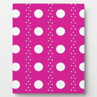 polka dots plaque