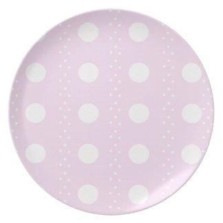 polka dots plate