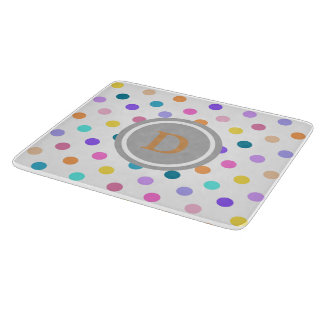 Polka dots pretty confetti custom cutting board