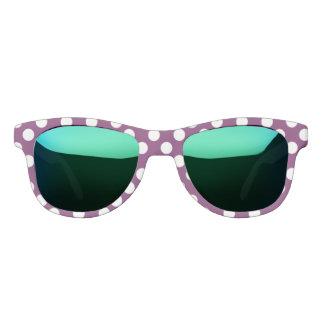 Polka Dots Purple White Custom Designer Sunglasses
