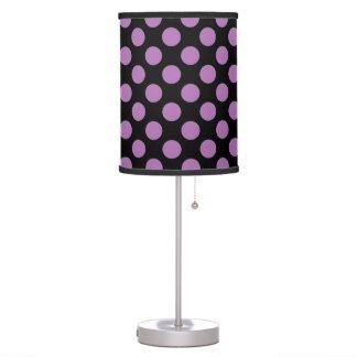 Polka Dots Radiant Orchid Desk Lamp