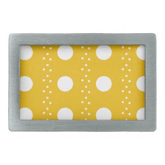 polka dots rectangular belt buckle