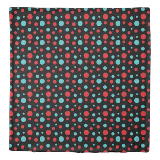Polka Dots Red and Blue Duvet Cover