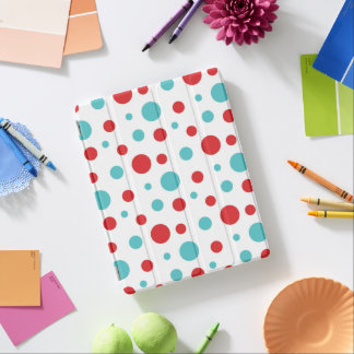 Polka Dots Red and Blue iPad Cover