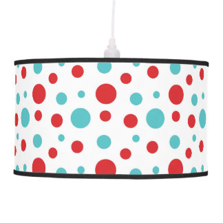 Polka Dots Red and Blue Pendant Lamp