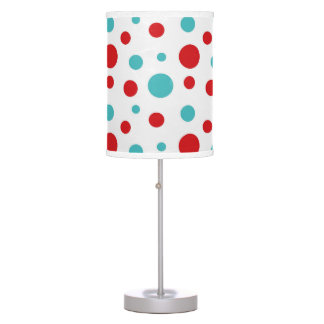 Polka Dots Red and Blue Table Lamp