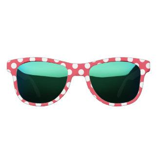 Polka Dots Red White Lady Bug Custom Designer Sunglasses