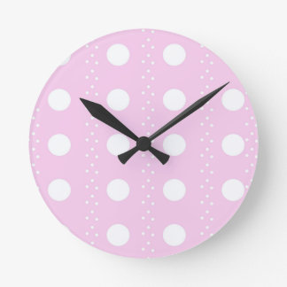 polka dots round clock