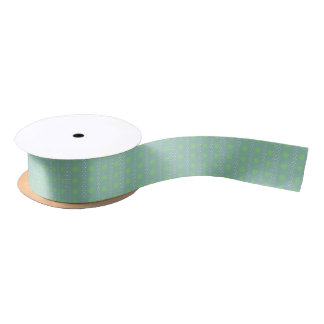 Polka dots satin ribbon