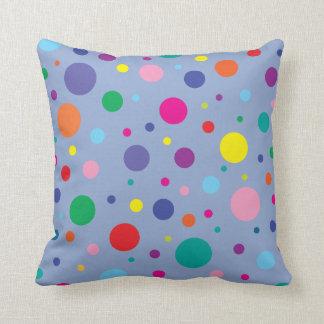 Polka Dots | Serenity Blue | Change BG colour Throw Pillow