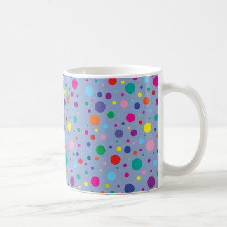 Polka Dots|Serenity Blue|Customized Background Clr Coffee Mug
