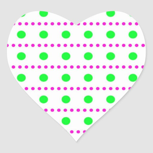 polka dots spots dab dabbed scores heart stickers