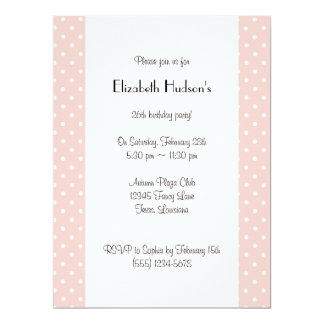 Polka Dots, Spots (Dotted Pattern) - Pink White Card