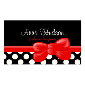 Polka Dots Spots Dotted Pattern - White Black Business Card Templates