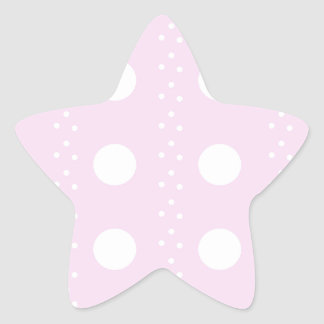 polka dots star sticker
