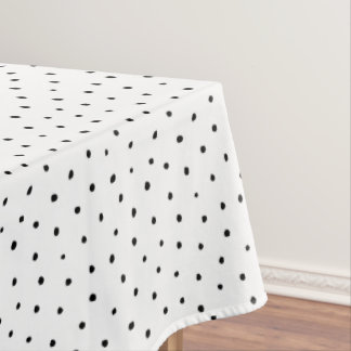 Polka dots tablecloth